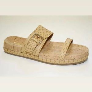 Coach Sunny Cut Snake cork and leather sandals. 💛